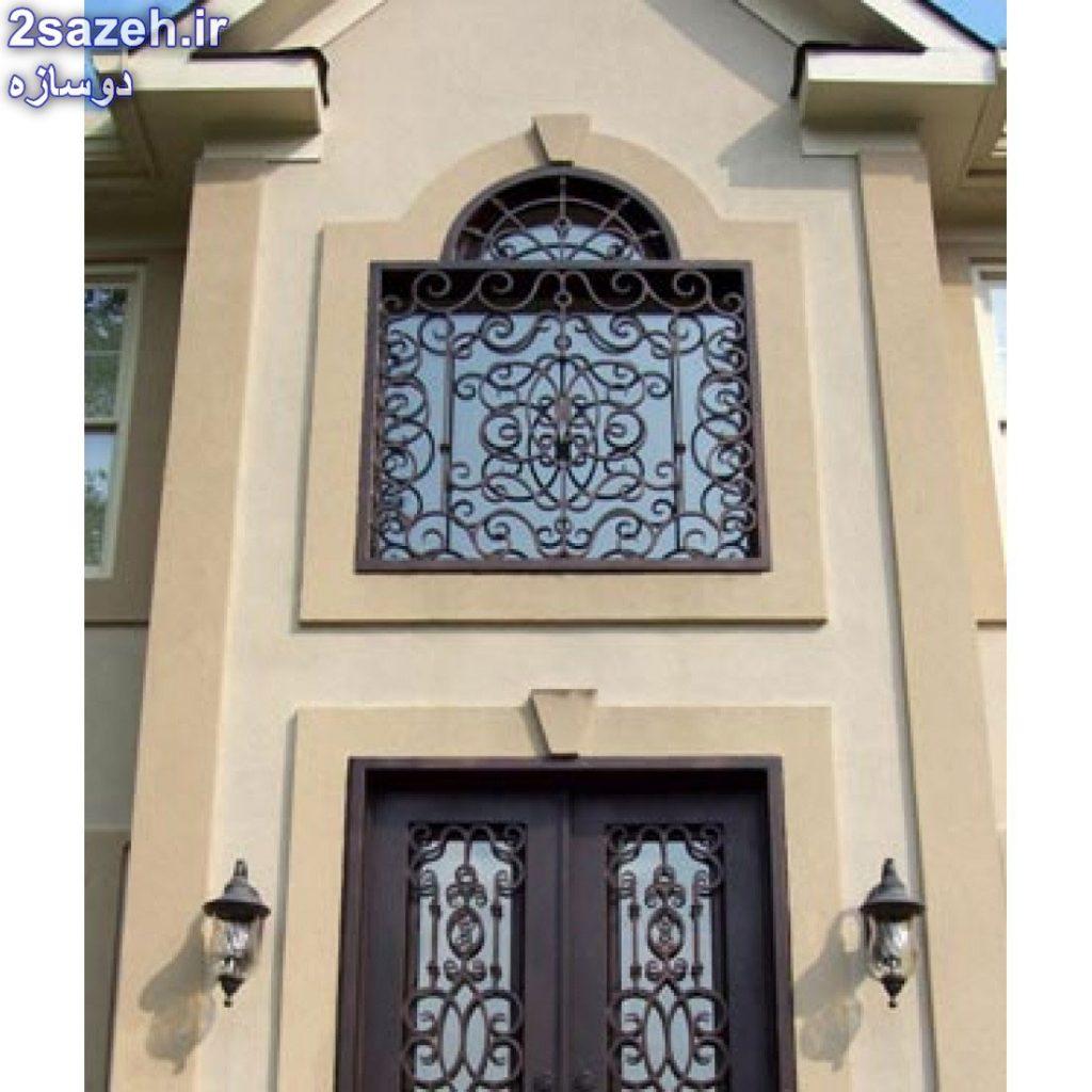 لیست قیمت حفاظ پنجره - نرده حفاظ آهنی پشت پنجره فرفورژه و ساده
